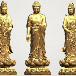 Download free 3D printer templates Three Buddha  -TOP MODEL, GeorgesNikkei