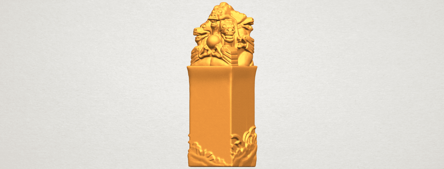 A02.png Download free STL file Dragon Stamp 02 • 3D printing model, GeorgesNikkei