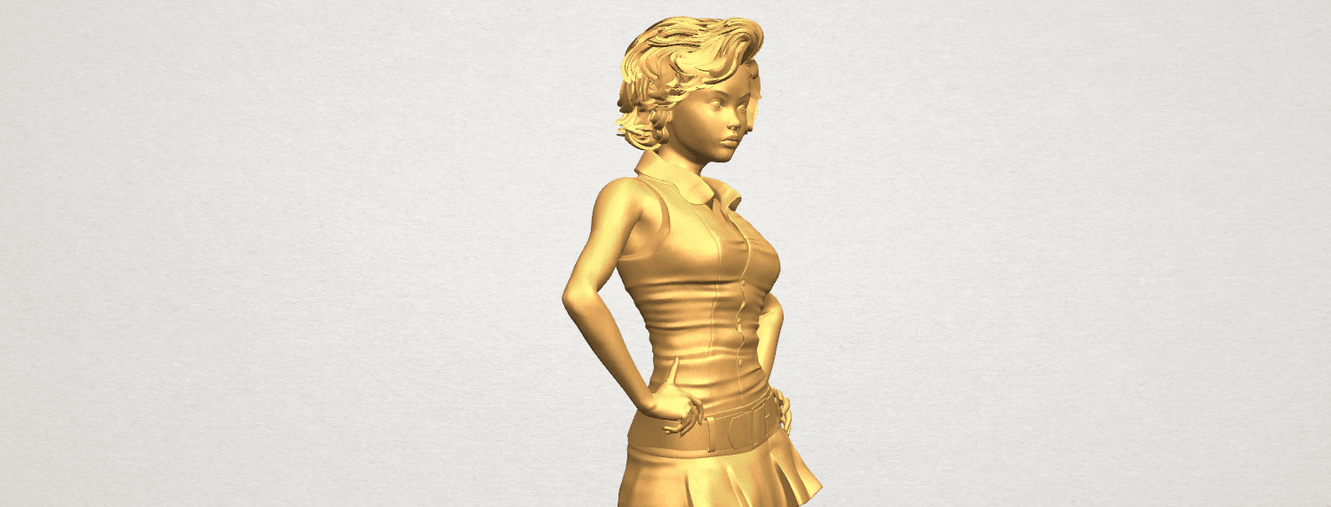 TDA0473 Beautiful Girl 07 A09.png Télécharger fichier STL gratuit Belle Fille 07 • Design à imprimer en 3D, GeorgesNikkei