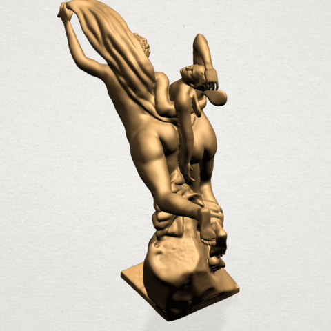 Cupid and Psyche - A14.png Download free STL file Cupid and Psyche • 3D printing template, GeorgesNikkei