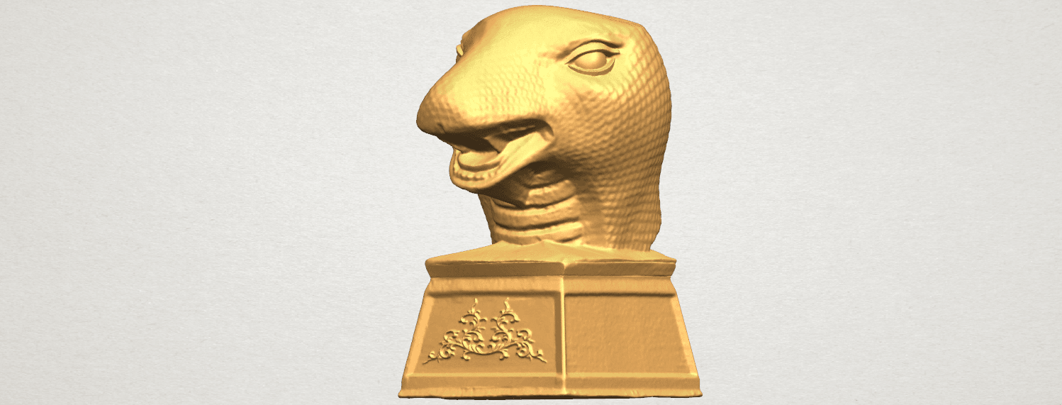 TDA0513 Chinese Horoscope of Snake A02.png Download free STL file Chinese Horoscope of Snake 02 • 3D printer design, GeorgesNikkei