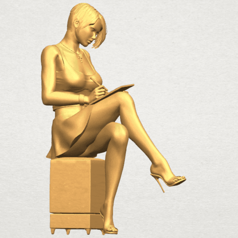 TDA0471 Beautiful Girl 05 A07.png Download free STL file Beautiful Girl 05 • 3D printing template, GeorgesNikkei