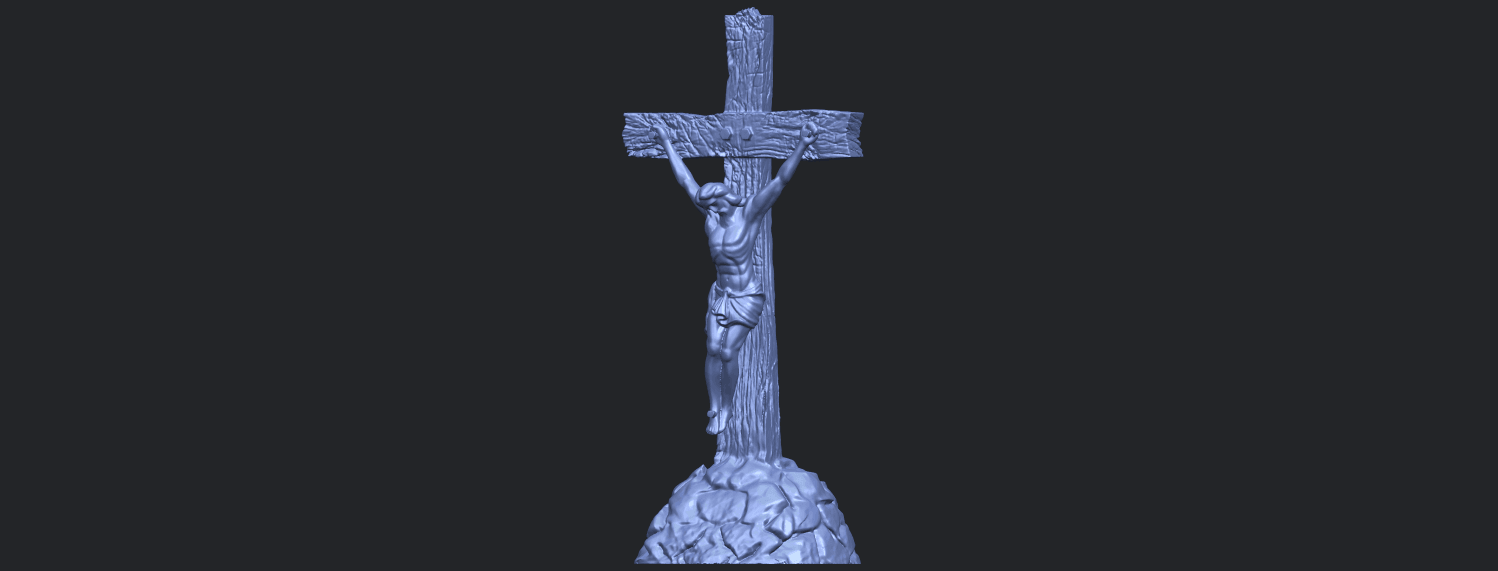 12_TDA0229_Jesus_with_cross_ii_88mmB02.png Download free STL file Jesus with cross 02 • Template to 3D print, GeorgesNikkei
