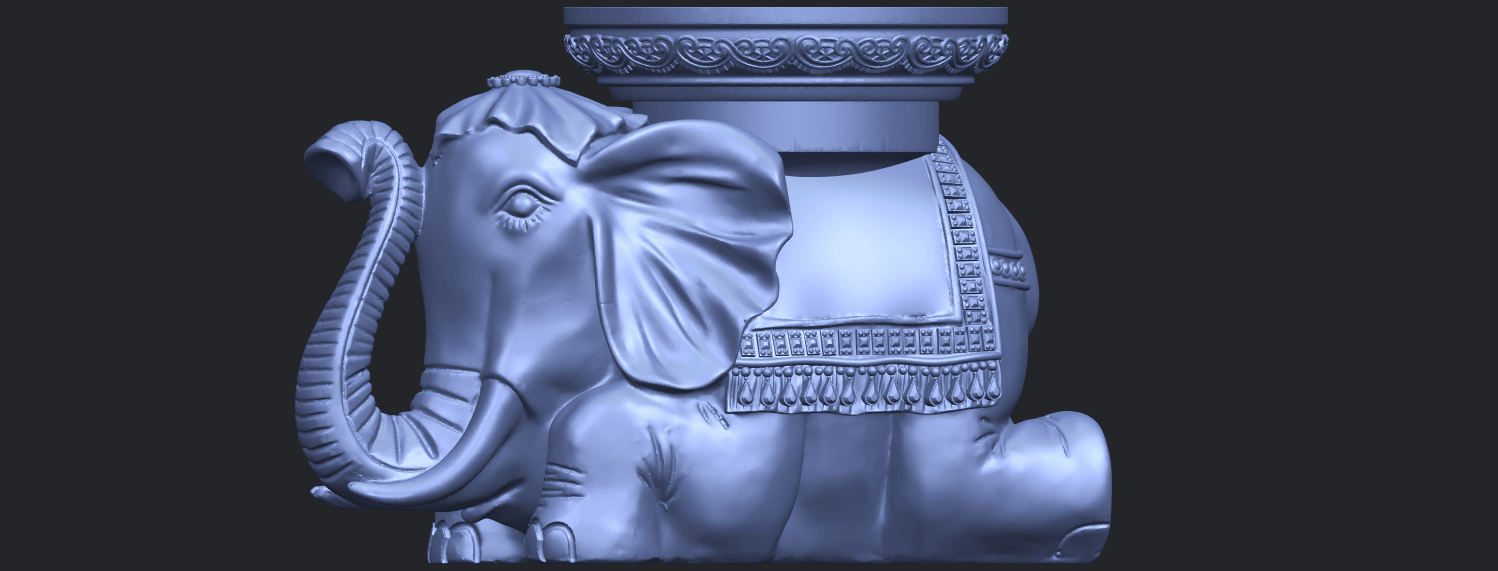 11_TDA0501_Elephant_TableB02.png Download free STL file Elephant Table • 3D printing object, GeorgesNikkei