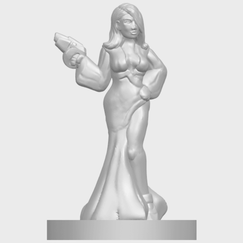 12_TDA0160_Beautiful_Anime_Girls_05_-_88mmA01.png Download free STL file Beautiful Anime Girl 05 • Template to 3D print, GeorgesNikkei