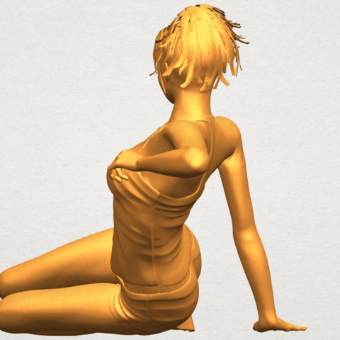 A05.png Download free STL file Naked Girl F08 • Object to 3D print, GeorgesNikkei