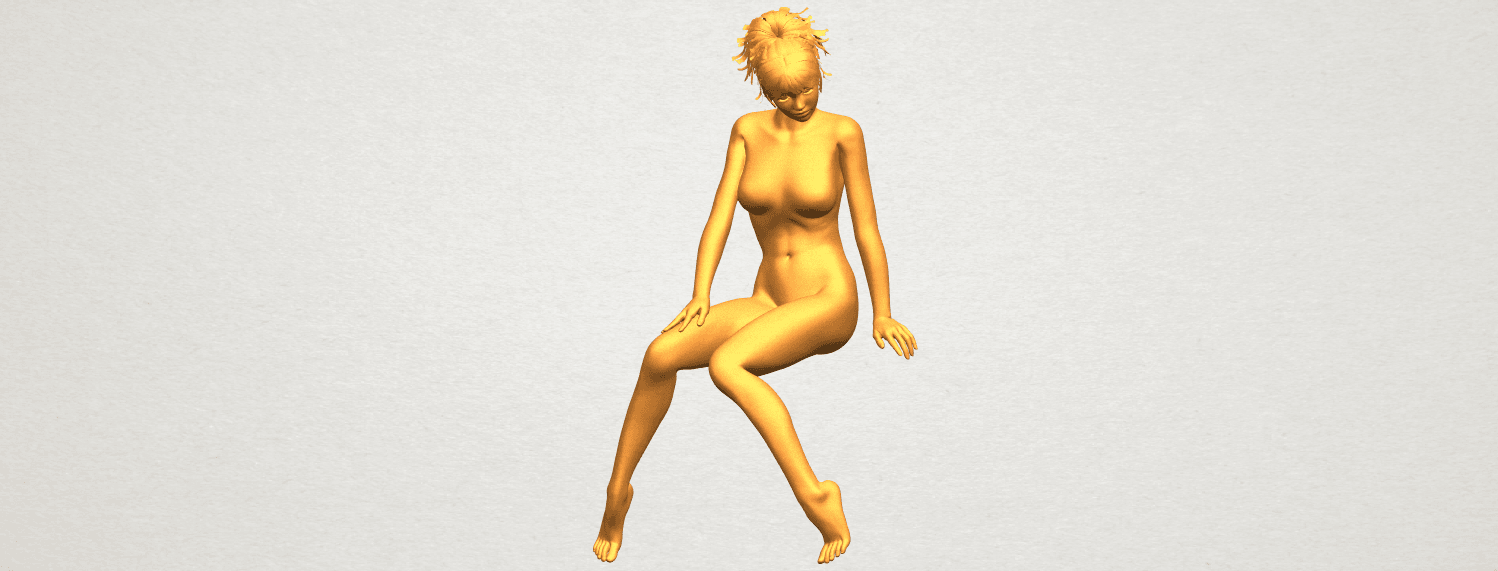 A02.png Download free STL file Naked Girl E01 • 3D printer template, GeorgesNikkei