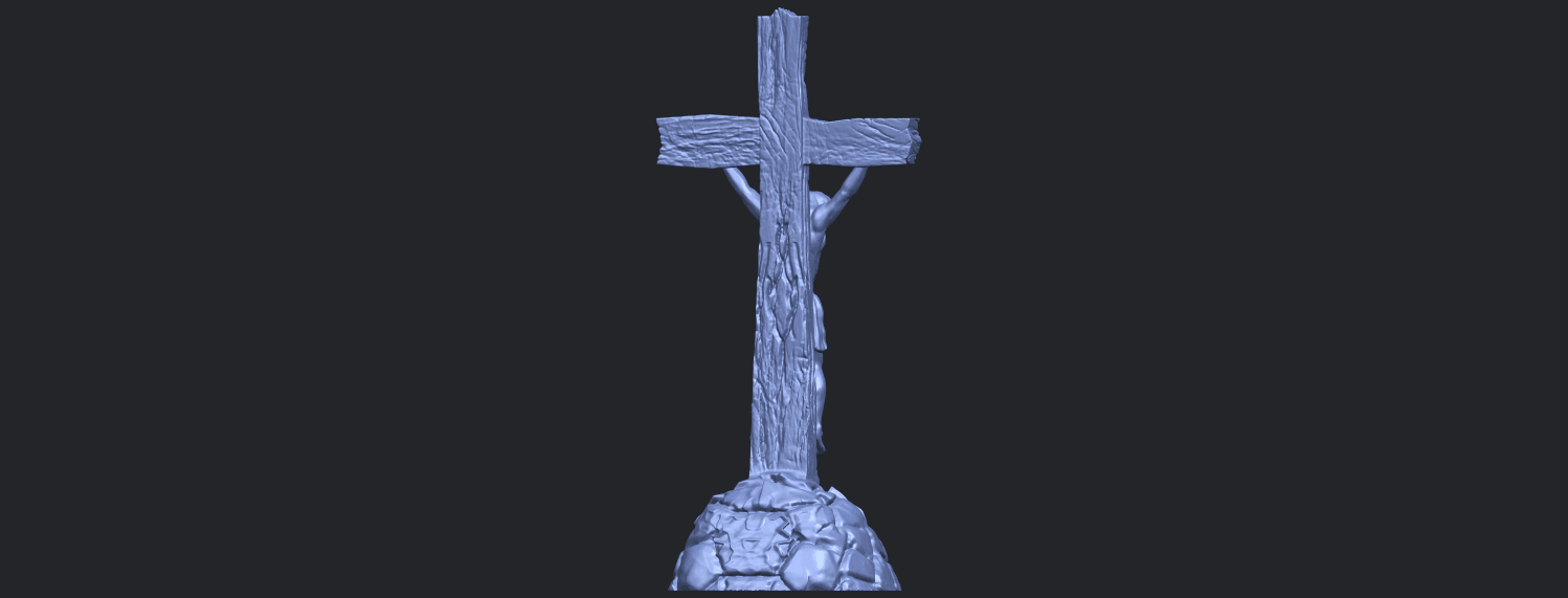 12_TDA0229_Jesus_with_cross_ii_88mmB07.png Download free STL file Jesus with cross 02 • Template to 3D print, GeorgesNikkei