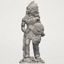 TDA0240 Red Indian A01.png Download free STL file Red Indian • 3D print template, GeorgesNikkei