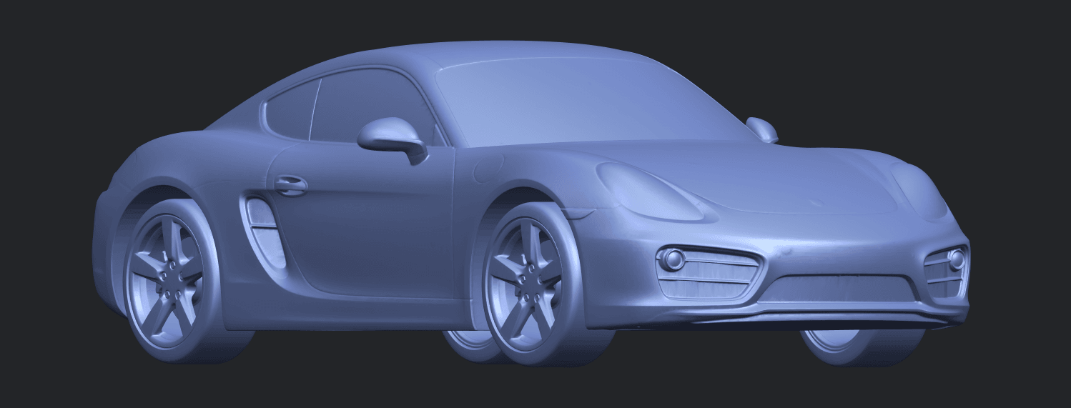 16_TDA0304_Porche_01_Length438mmB08.png Download free STL file Porche 01 • 3D printable object, GeorgesNikkei