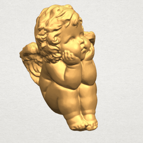 TDA0481 Angel Baby 04 B08.png Download free STL file Angel Baby 04 • 3D printable template, GeorgesNikkei