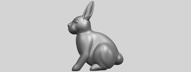 TDA0755_Rabbit_03A01.png Télécharger fichier STL gratuit Lapin 03 • Design à imprimer en 3D, GeorgesNikkei