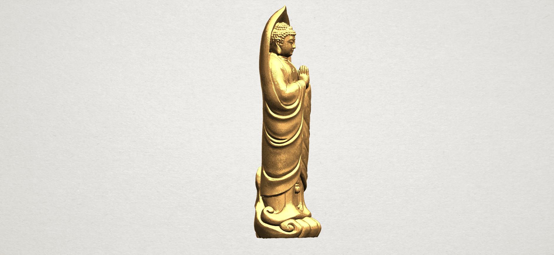 Gautama Buddha Standing (iv) A06.png Download free STL file Gautama Buddha Standing 04 • 3D printable design, GeorgesNikkei