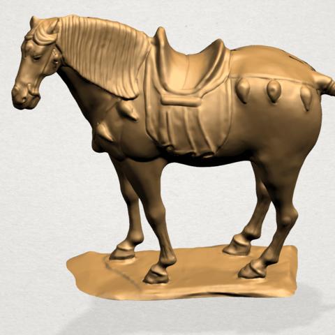 Horse (iv) B01.png Télécharger fichier STL gratuit Cheval 04 • Design à imprimer en 3D, GeorgesNikkei