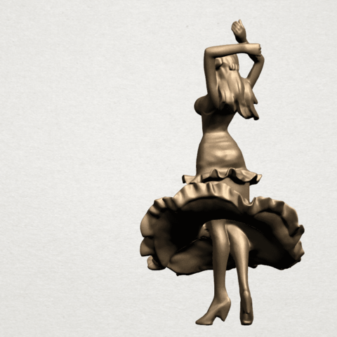 Girl with Dress A04.png Download free STL file Girl with Dress • Object to 3D print, GeorgesNikkei