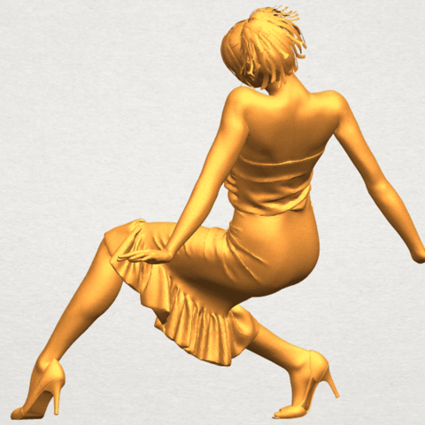A05.png Download free STL file Naked Girl G05 • 3D printing object, GeorgesNikkei