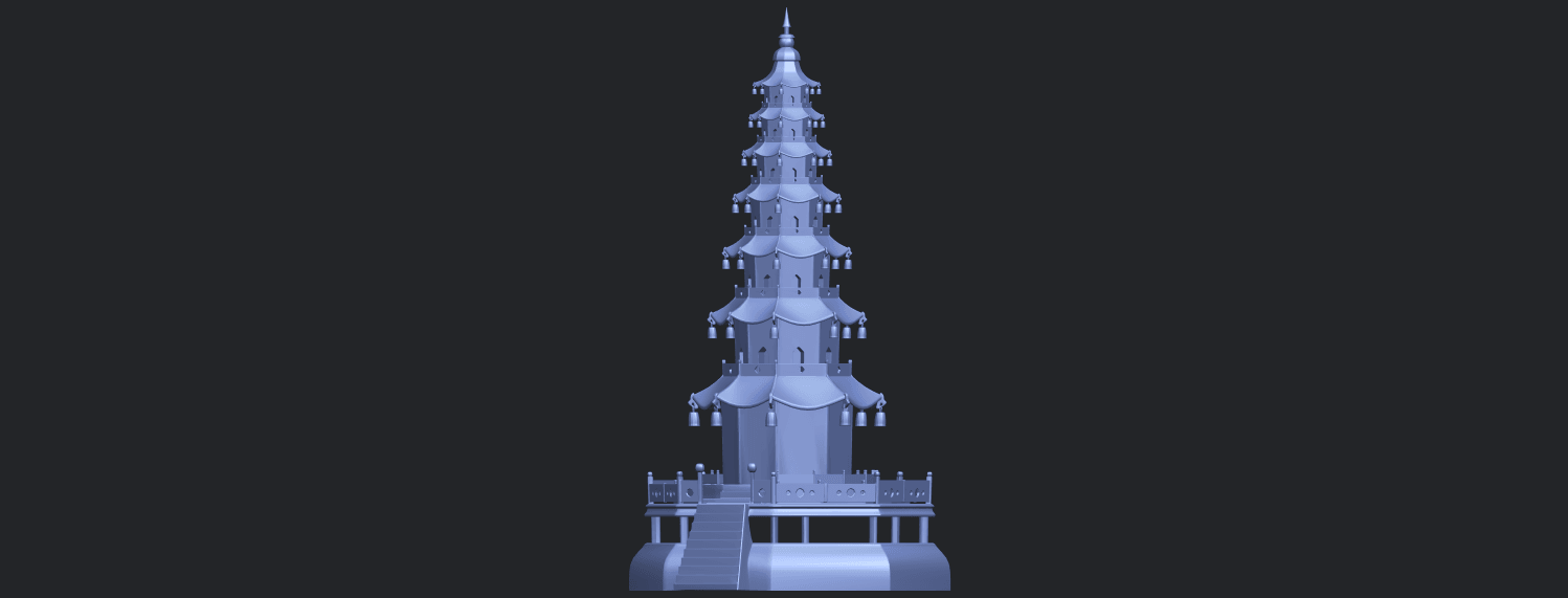 03_TDA0623_Chiness_pagodaB02.png Download free STL file Chiness pagoda • Design to 3D print, GeorgesNikkei