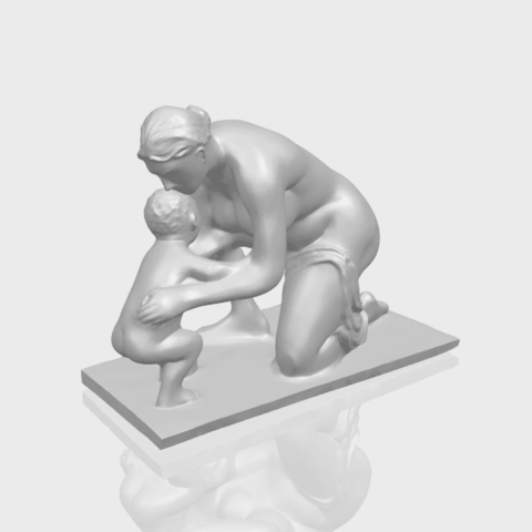 10_Mother-Child_(iv)_90mm_(repaired)A00-1.png Download free STL file Mother and Child 04 • 3D print template, GeorgesNikkei