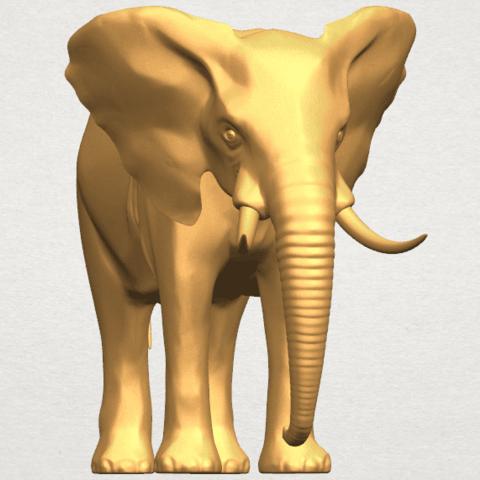 TDA0592 Elephant 07 A07.png Télécharger fichier STL gratuit Eléphant 07 • Objet à imprimer en 3D, GeorgesNikkei