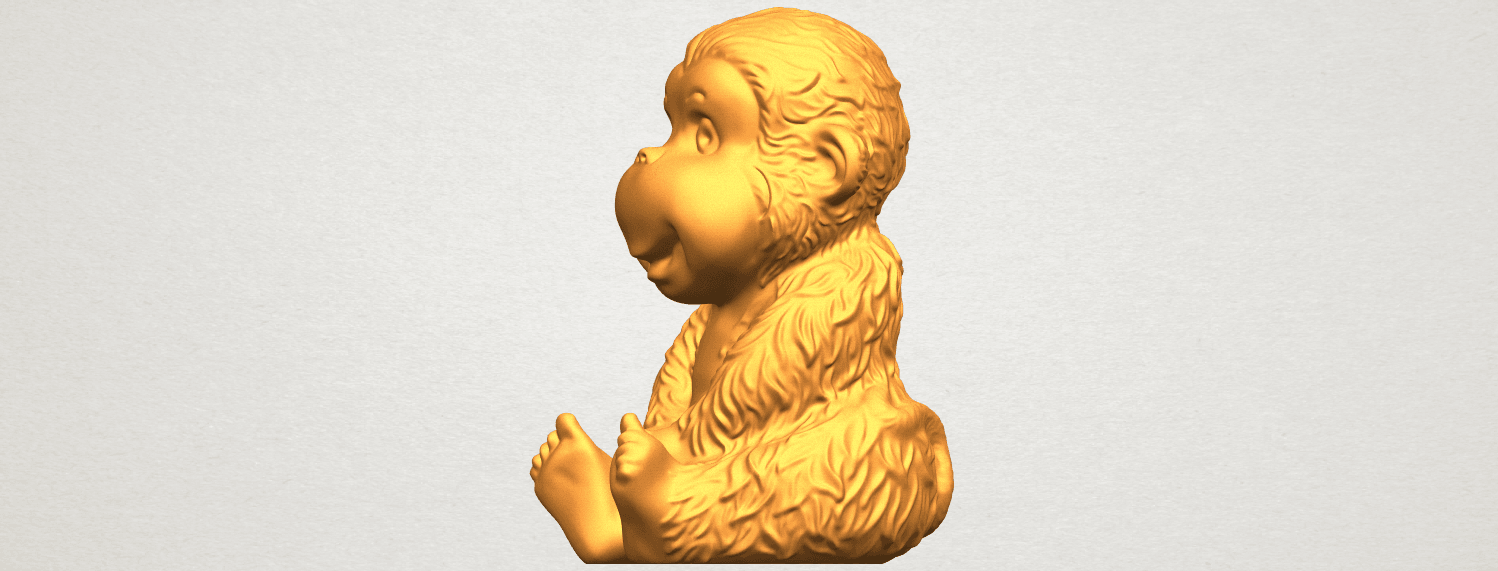 A03.png Download free STL file Monkey A01 • 3D printer model, GeorgesNikkei