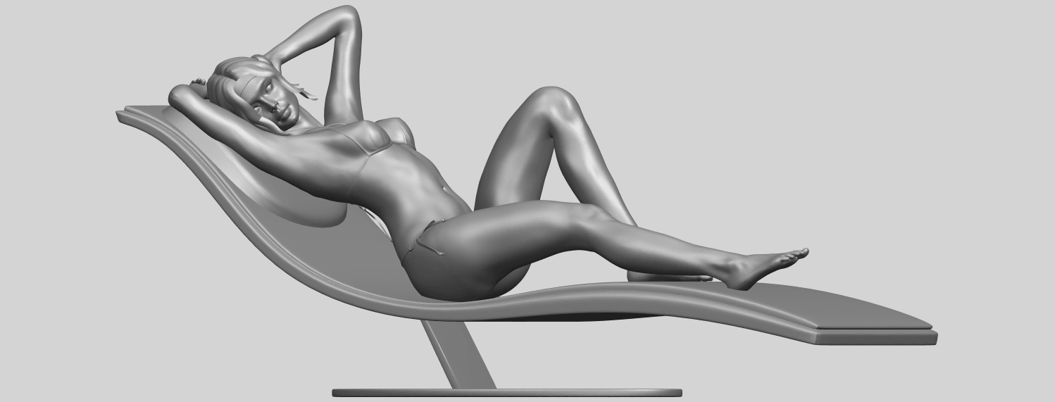 TDA0743_Sexy_Girl_13-Lye_on_ChairA02.png Download free STL file Sexy Girl 13 - Lye on Chair • 3D printer design, GeorgesNikkei