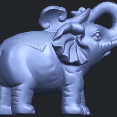 09_Elephant_02_150mmB09.png Télécharger fichier STL gratuit Eléphant 02 • Plan imprimable en 3D, GeorgesNikkei