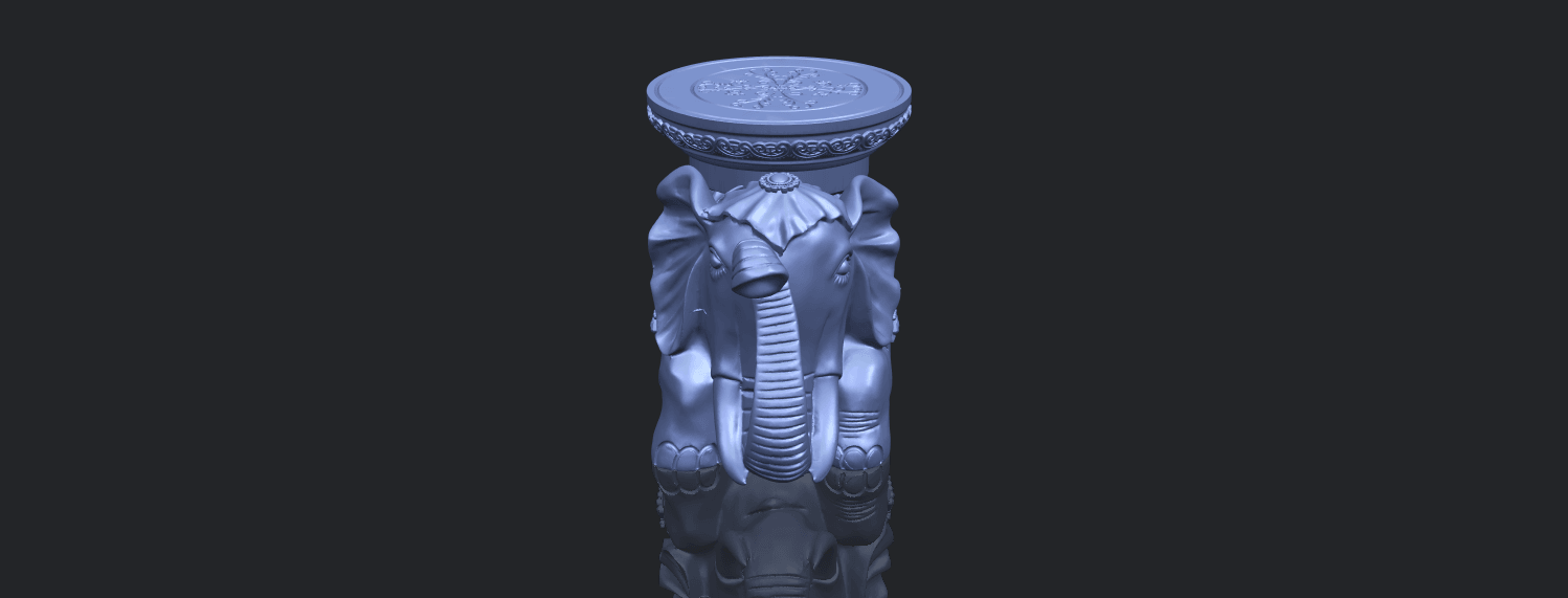 11_TDA0501_Elephant_TableB00-1.png Download free STL file Elephant Table • 3D printing object, GeorgesNikkei