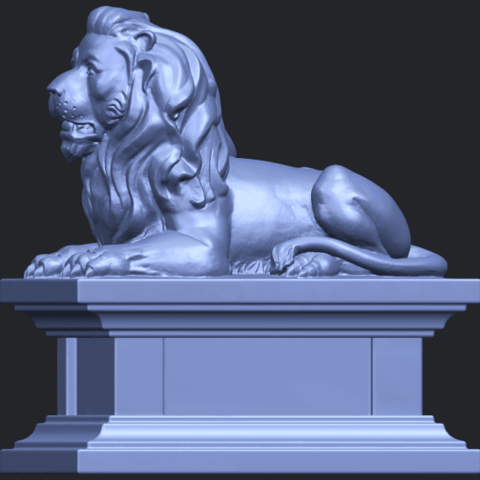 01_TDA0499_Lion_04B03.png Download free STL file Lion 04 • Template to 3D print, GeorgesNikkei
