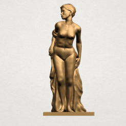 Free 3D printer designs Naked Girl - Bathing04, GeorgesNikkei
