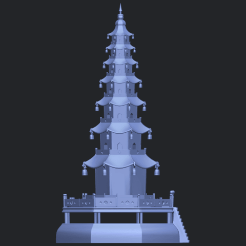 03_TDA0623_Chiness_pagodaB09.png Download free STL file Chiness pagoda • Design to 3D print, GeorgesNikkei