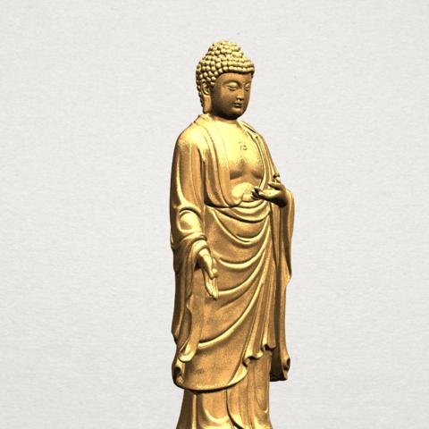Gautama Buddha (stand)-80mm-B05.png Télécharger fichier STL gratuit Gautama Bouddha - Debout 01 • Plan pour impression 3D, GeorgesNikkei