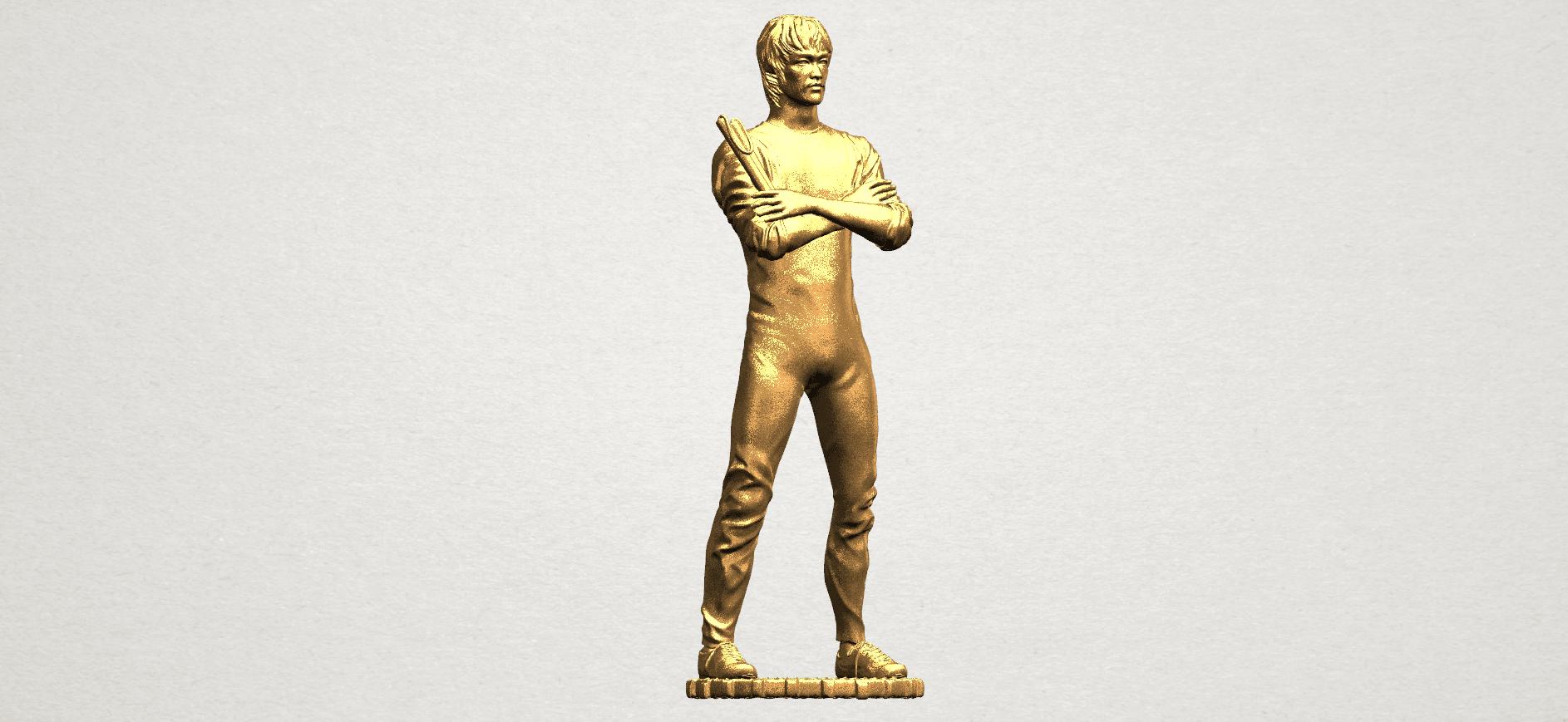 Bruce Lee A08.png Download free STL file Bruce Lee • 3D printing design, GeorgesNikkei