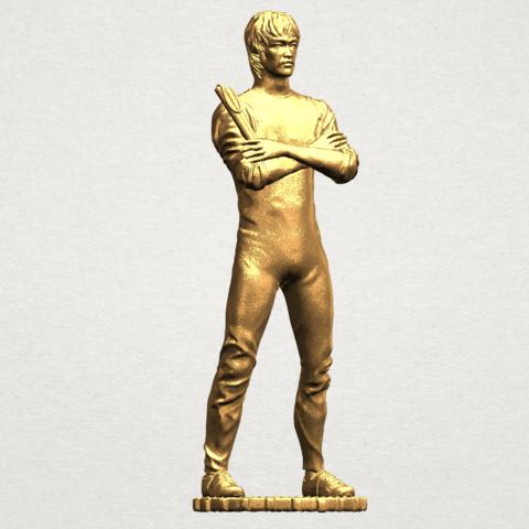 Bruce Lee A08.png Télécharger fichier STL gratuit Bruce Lee • Design à imprimer en 3D, GeorgesNikkei