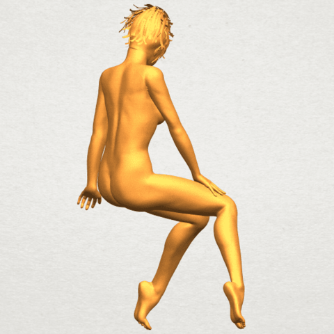 A08.png Download free STL file Naked Girl E01 • 3D printer template, GeorgesNikkei