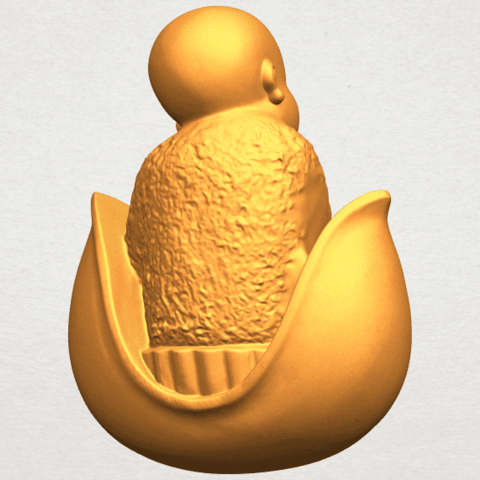 A07.png Download free STL file Little Monk 03 • 3D print template, GeorgesNikkei