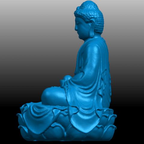 03.png Télécharger fichier STL gratuit Gautama Bouddha 01 • Plan pour impression 3D, GeorgesNikkei