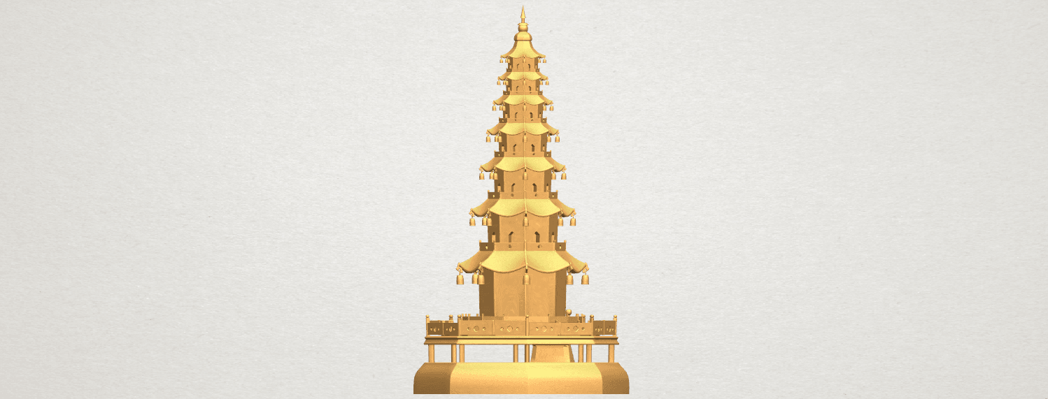 TDA0623 Chiness pagoda A04.png Download free STL file Chiness pagoda • Design to 3D print, GeorgesNikkei