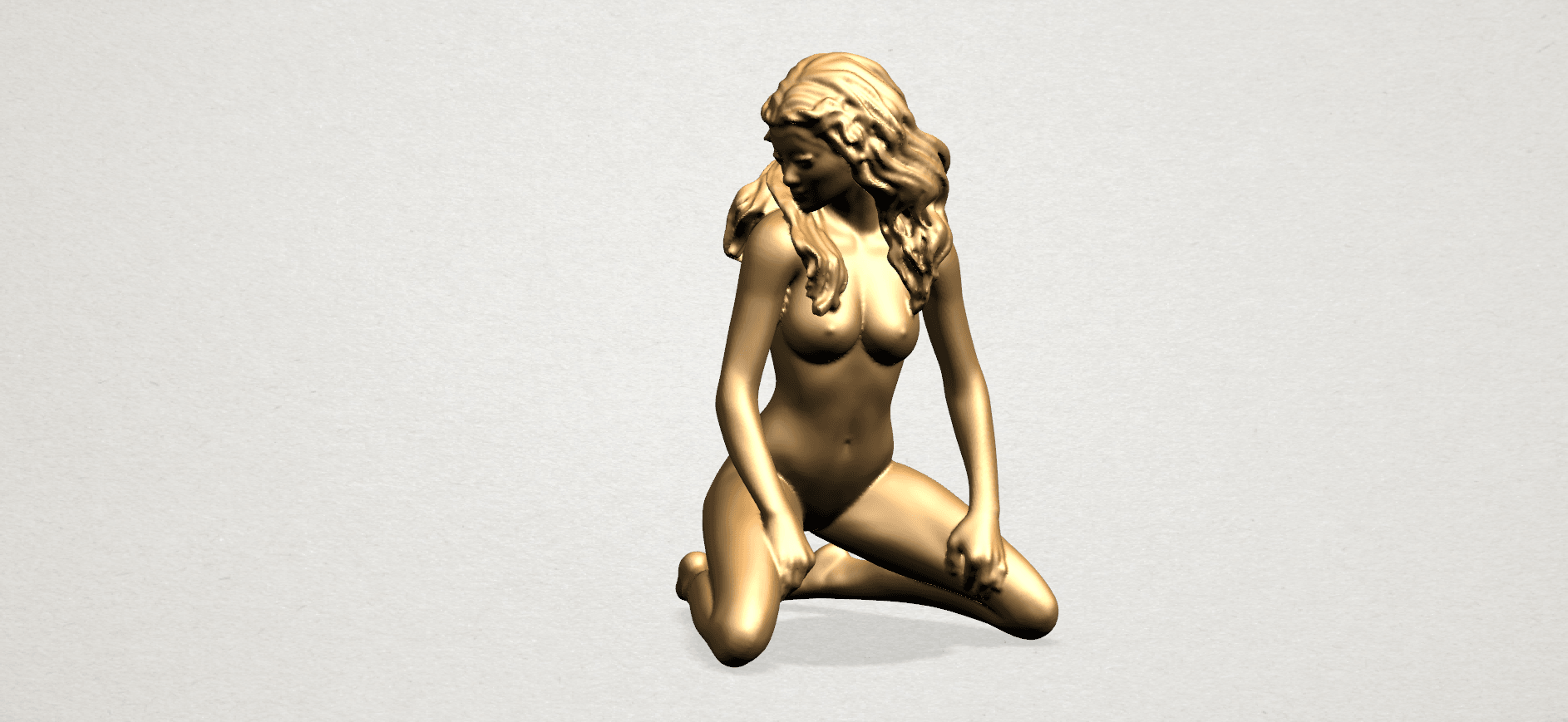 Naked girl - bended knees (II)-B01.png Download free STL file Naked girl - Bended Knees 02 -TOP MODEL • 3D printing object, GeorgesNikkei