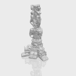 Thai Elephant Tower 3D model, Miketon