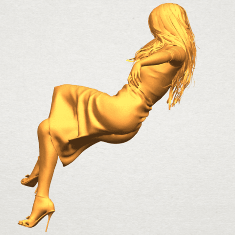 A03.png Download free STL file Naked Girl I01 • 3D print object, GeorgesNikkei