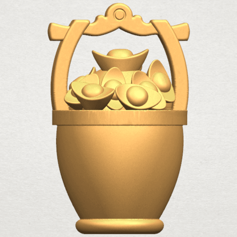 TDA0502 Gold in Bucket A05.png Download free STL file Gold in Bucket • 3D print object, GeorgesNikkei