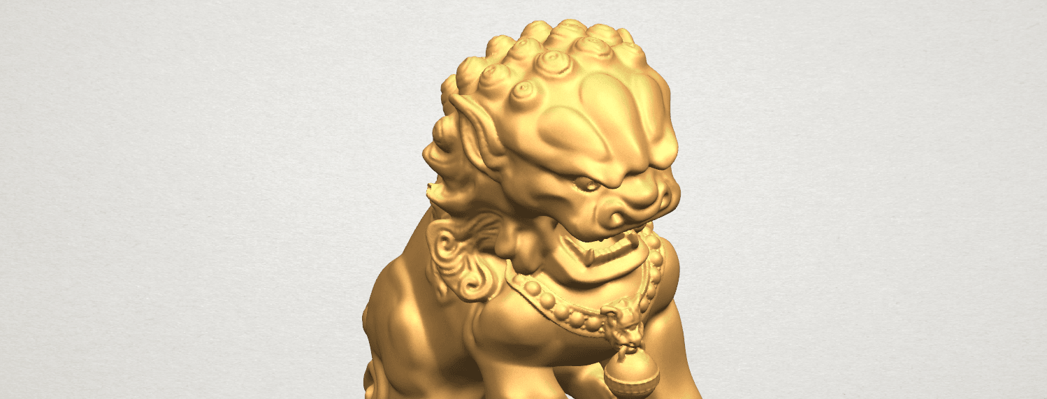 TDA0500 Chinese Lion A08.png Download free STL file Chinese Lion • 3D printing object, GeorgesNikkei