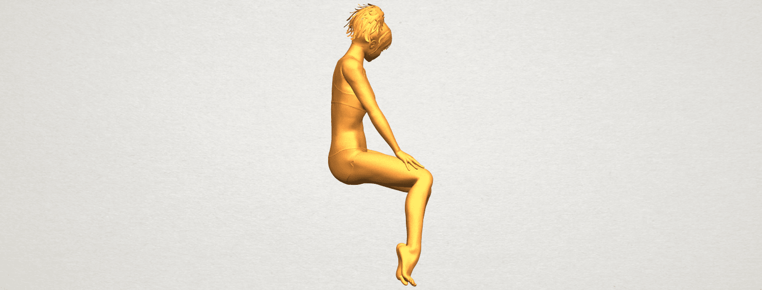 A09.png Download free STL file Naked Girl E03 • 3D printable template, GeorgesNikkei