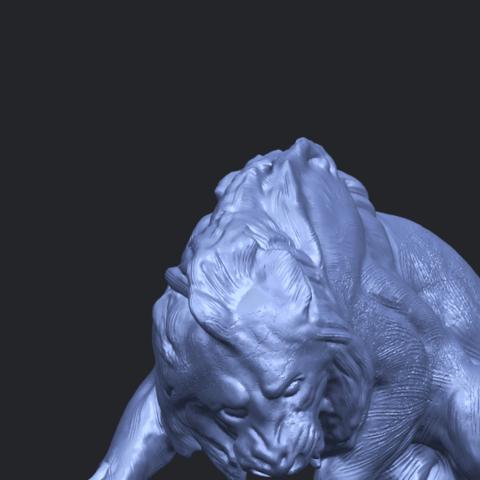 16_Lion_(iii)_with_snake_60mm-A10.png Télécharger fichier STL gratuit Lion 03 - avec serpent • Modèle imprimable en 3D, GeorgesNikkei