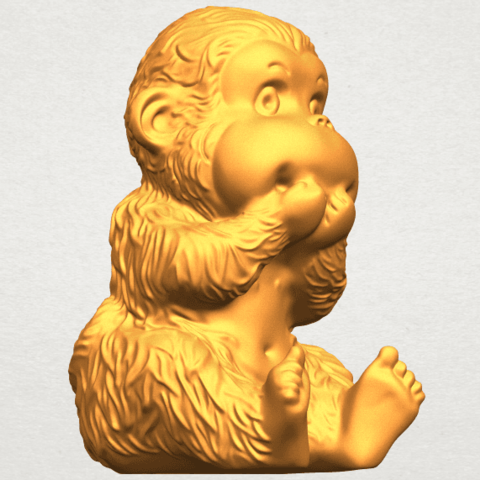 A10.png Download free STL file Monkey A04 • Model to 3D print, GeorgesNikkei