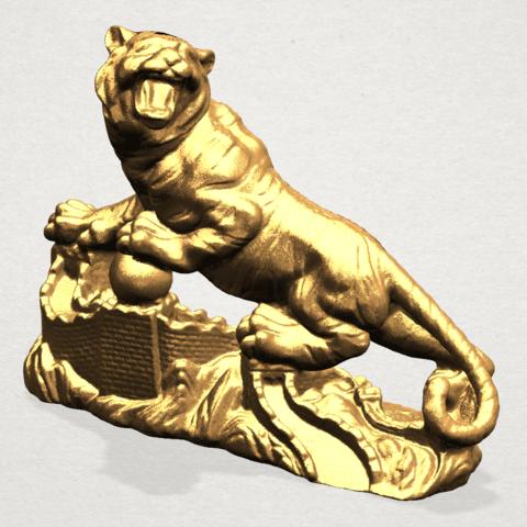 Siberian Tiger - A02.png Télécharger fichier STL gratuit Tigre de Sibérie • Objet imprimable en 3D, GeorgesNikkei