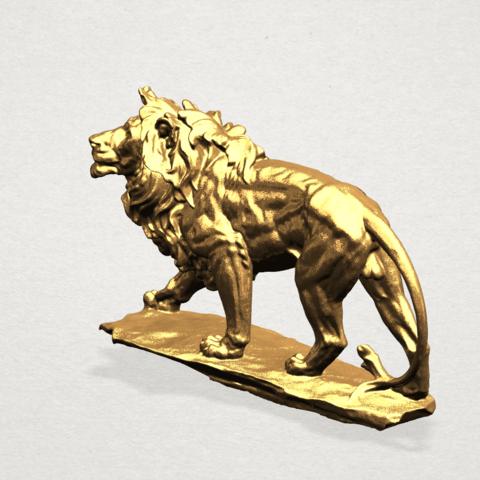 Lion (ii) -50mm-B02.png Télécharger fichier STL gratuit Lion 02 • Design pour impression 3D, GeorgesNikkei