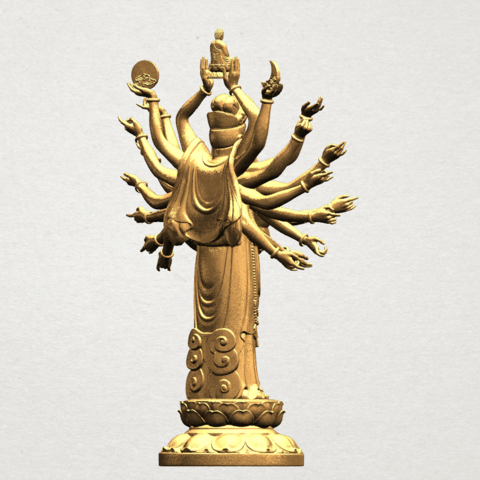 Avalokitesvara Bodhisattva (multi hand) 80mm -B07.png Download free STL file Avalokitesvara Bodhisattva (multi hand) (i) • 3D print object, GeorgesNikkei