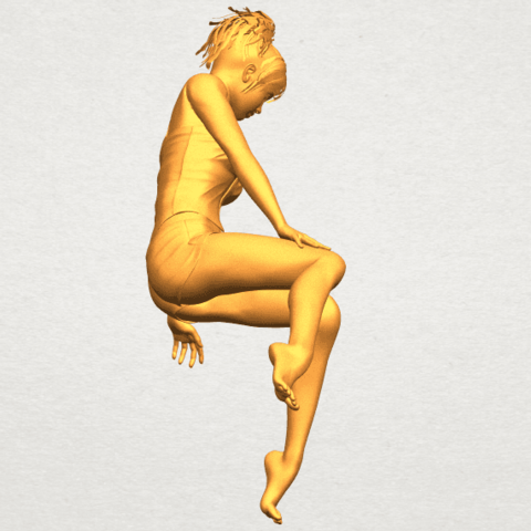A08.png Download free STL file Naked Girl E04 • Template to 3D print, GeorgesNikkei
