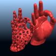 Download free 3D printer templates Voronoi Hand, GeorgesNikkei